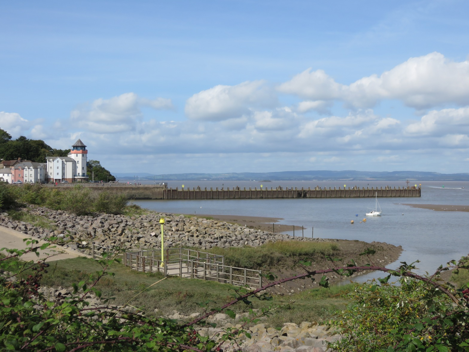 Looking back towards The Barbican and Portishead Pier from The Rhyne