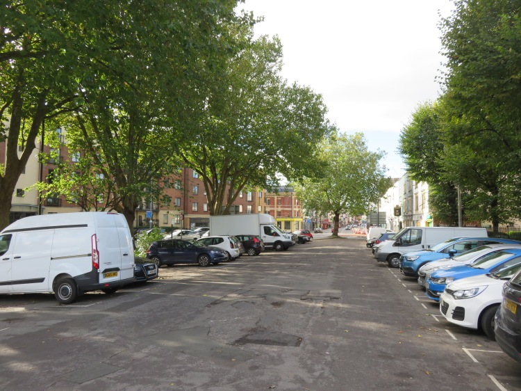 The old carriageway of Bedminster Parade