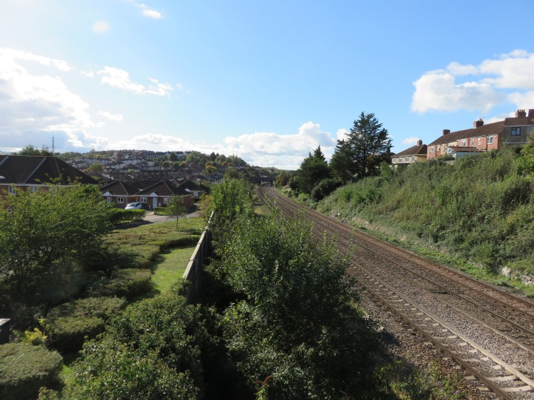 View along the railway line