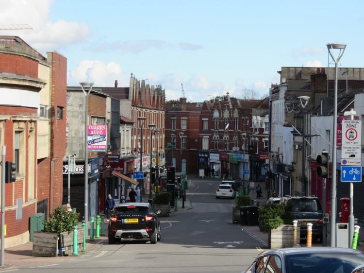 View into East Street from British Road