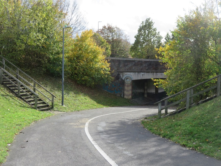 The underpass below Station Road Link