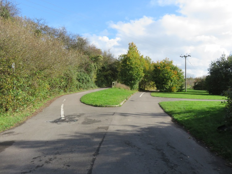 The junction of cycle paths east of the Avon Ring Road