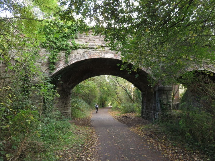 The bridge over the Railway Path at Norman Road