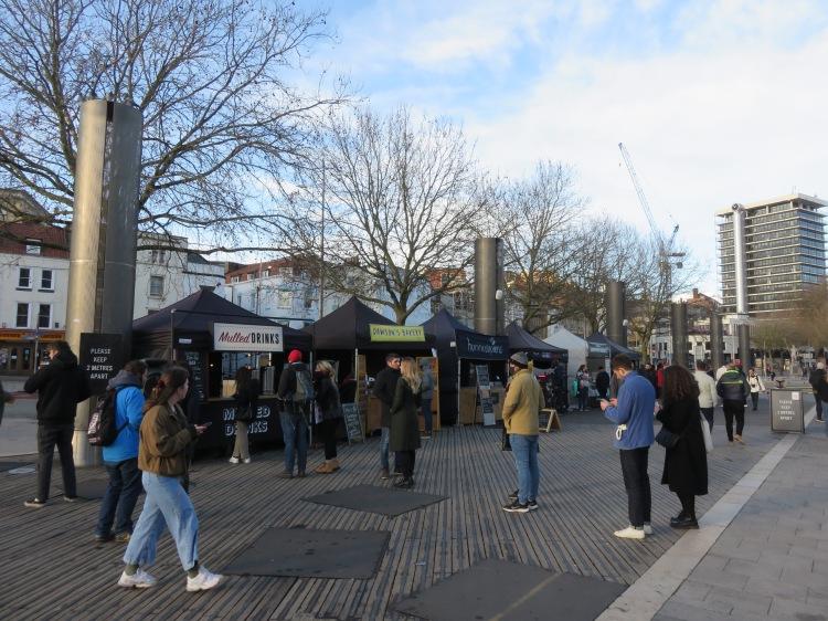 Street food market at the Centre Promenade