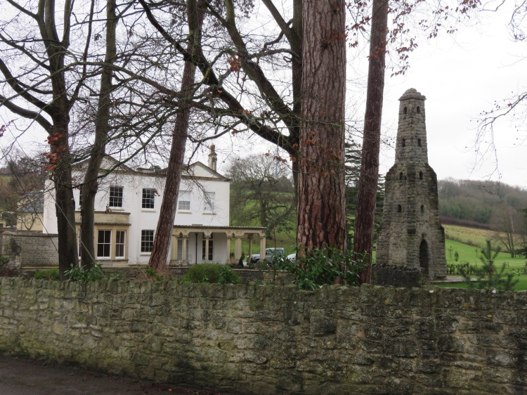 The grand house and dovecote at Chewton Road