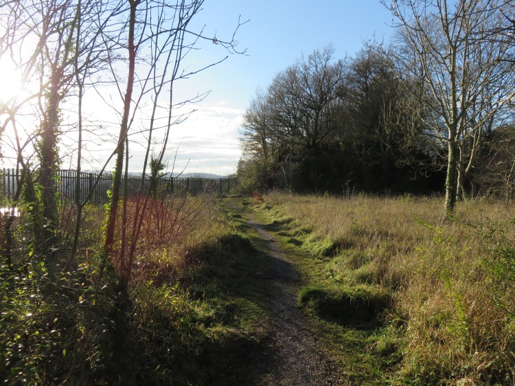 The footpath leading down from the Portway