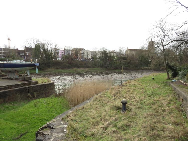 Alongside the former Bathurst Basin lock