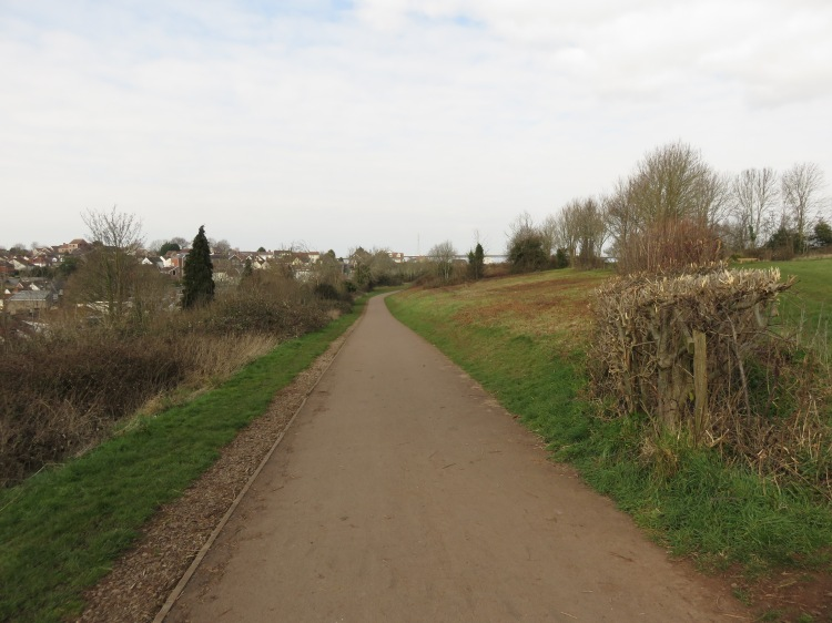 The cycle path at Watch House Hill