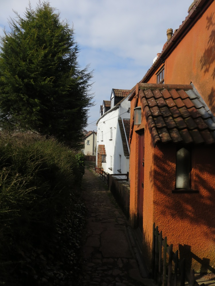 The lane at the foot of Watch House Hill