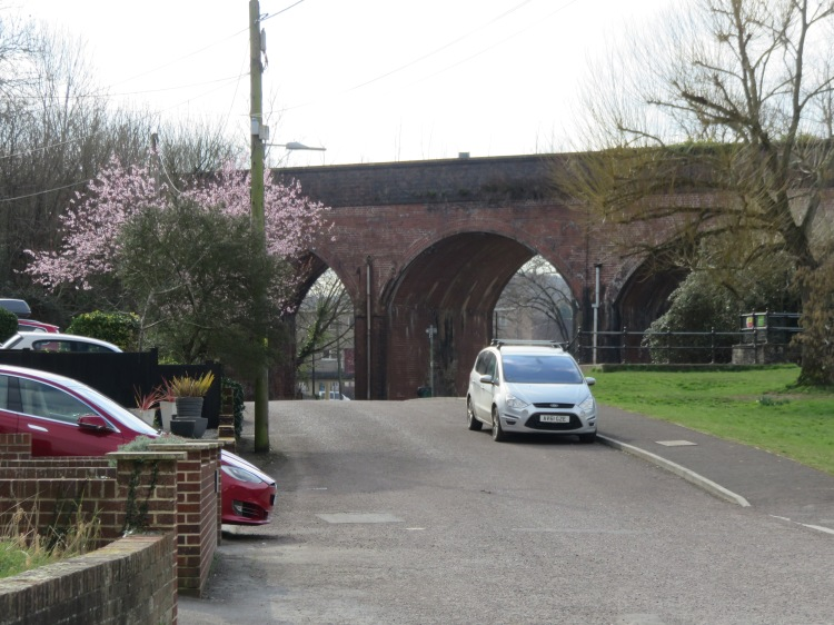 The railway viaduct at Pill Harbour