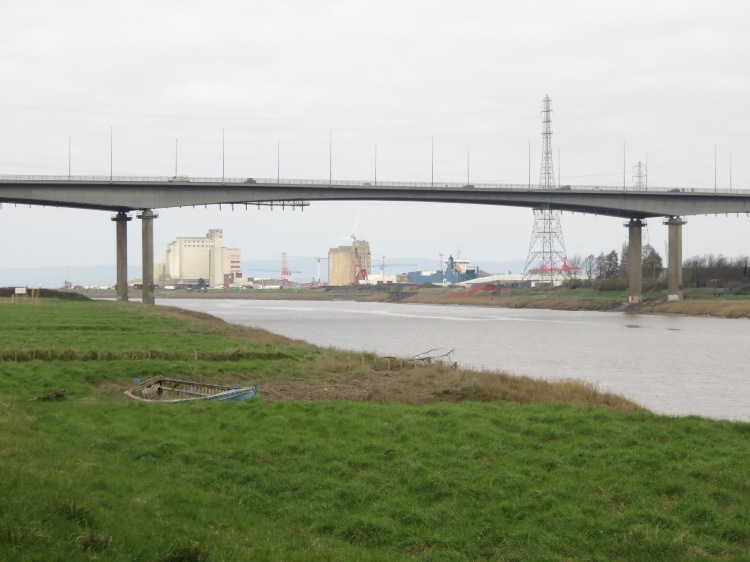 View of Avonmouth from the flood defence