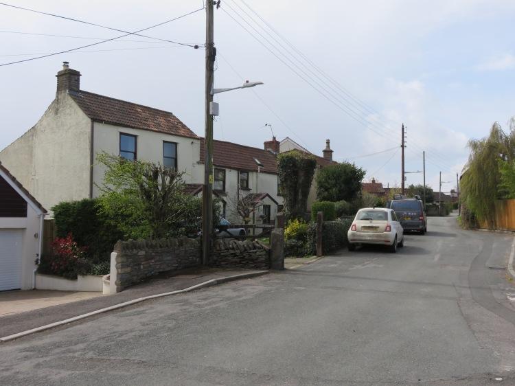 Older properties at Church Road, Winterbourne Down