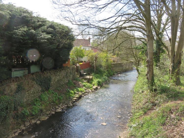 Crossing the Bradley Brook at Quarry Barton