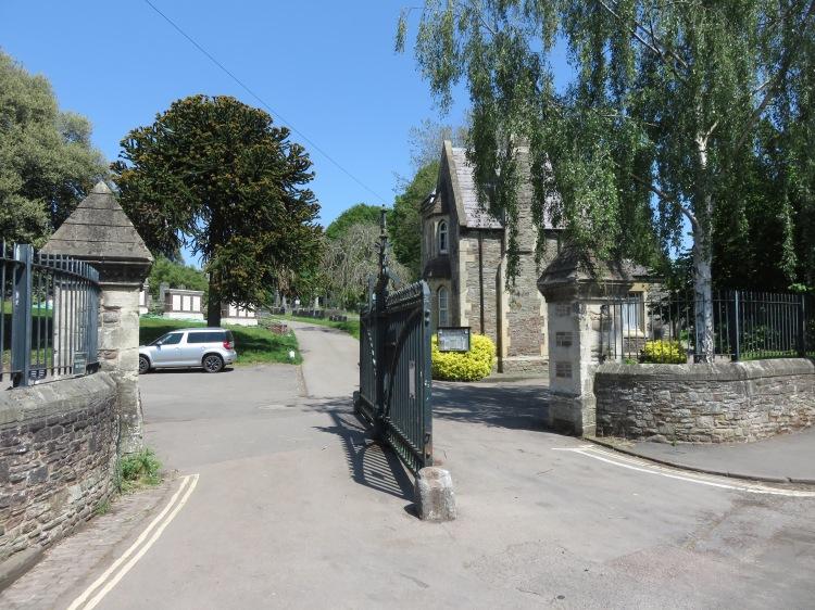 Greenbank Cemetery main gates and lodge