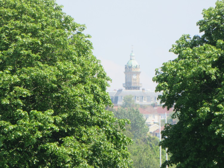 The distant dome of Cossham Hospital